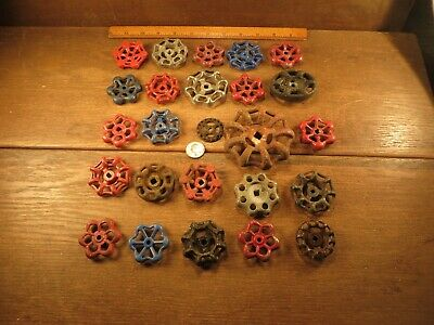 25 Vintage Valve Handles Water Faucet Knobs STEAMPUNK Industrial Arts & Crafts A