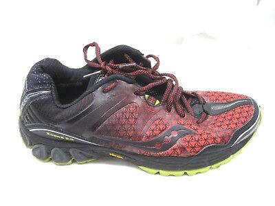 Saucony  Xodus ISo 2.0 red mens trail running athletic shoes tennis sneakers 8D