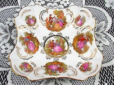 Bayreuth Germany Love Story Fragonard Courting Couple Gold Bowl