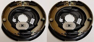 "2-Pk 12"" x 2"" Left Hand Electric Trailer Brake Self Adjusting Backing Plates"