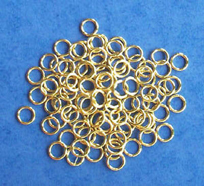 approx 1000 gold plated 6mm jump rings, bulk findings for jewellery making