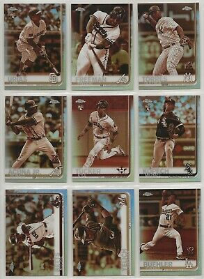 2019 Topps Chrome Baseball Sepia Refractor ~ U Pick Cards ~ Buy 5 Get 2 FREE !