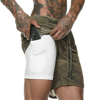 New Men's Sports Training Bodybuilding Summer Shorts Workout Fitness GYM Pants