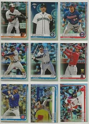 2019 Topps Chrome Refractor Complete your set ~ U Pick Cards ~ Buy 5 Get 3 FREE!