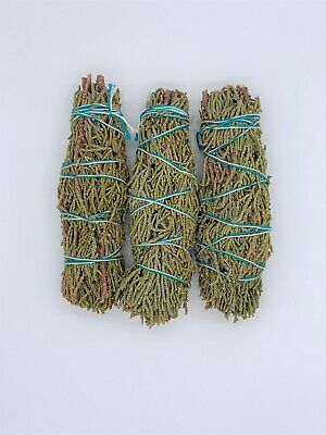 3X Juniper Sage Smudge Sticks / Wands - House Cleansing Negativity Removal