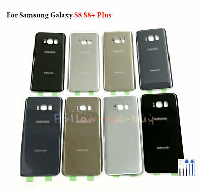 For Samsung Galaxy S8 S8+ Plus Rear Back Housing Glass Panel Cover Battery Door