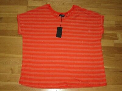 next maternity orange short sleeve summer loose top size 22 eu 50 brand new tag