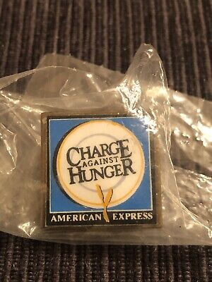 American Express Charge Against Hunger Pin Pinback Credit Card Company AE Metal