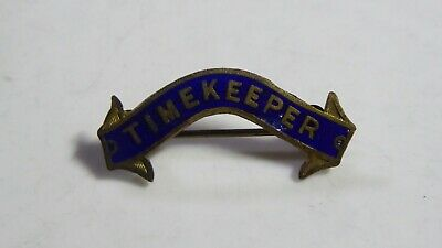 Antique Enamel Badge  -  Timekeeper - Sports Club Official