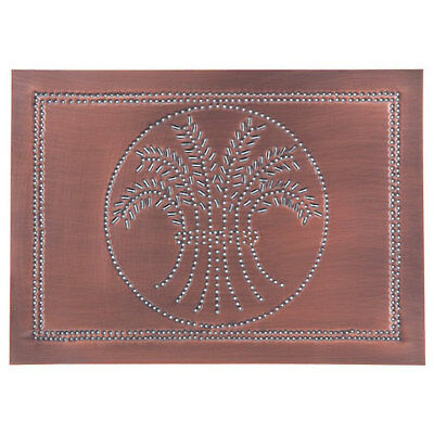 Horizontal new WHEAT cabinet Panel in Solid Copper