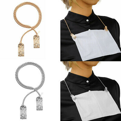 Portable Napkin Clip Neck Chain Dental Bib Holders Dining Clothing Protectors