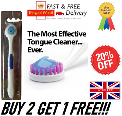 Total Clean Tongue Brush Cleaner Scraper - Oral Dental Care Uk Seller