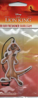 Disney - Car Air Freshener - The Lion King - Bubblegum          *New And Sealed*