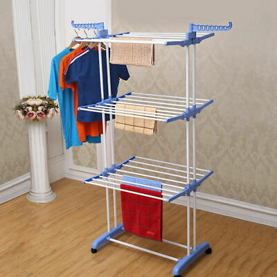 Heavy Duty Foldable Clothes Airer Horse Rack Laundry Washing Hanging Dryer Stand