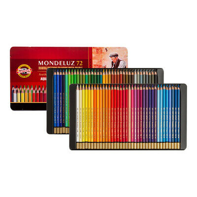 Koh-I-Noor Mondeluz Aquarell Coloured Pencils 3727 Set of 72