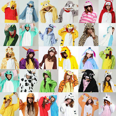 Adult Fleece Unisex  Kigurumi Animal Pajamas Cosplay Costume Sleepwear bodysuit^