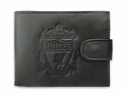 Liverpool FC Official Gift Boxed Leather Wallet Embossed Crest