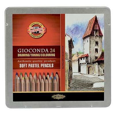 Koh-I-Noor Gioconda 8828 Soft Artist Pastel Pencils Set of 24