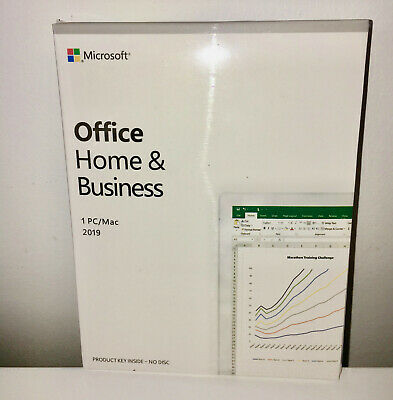 Microsoft Office Home and Business 2019 For 1 PC / Mac - Genuine / New & Sealed