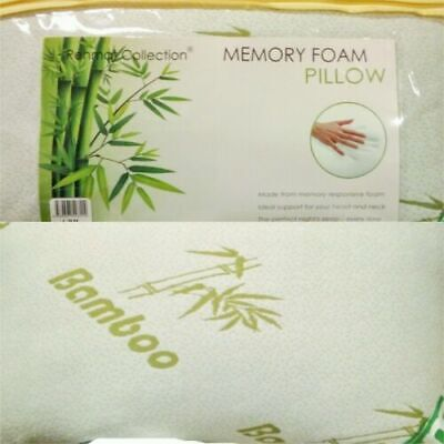 Shredded Memory Foam Pillow Anti Bacterial Zipped Washable Bamboo Cover