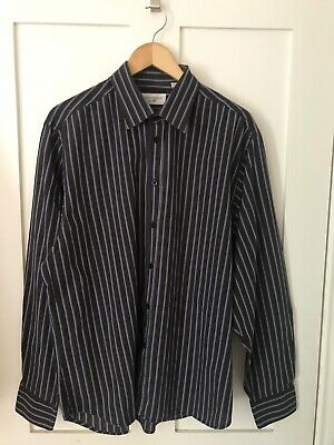Yves Saint Laurent Ysl Shirt Black Blue White Xl Shirt