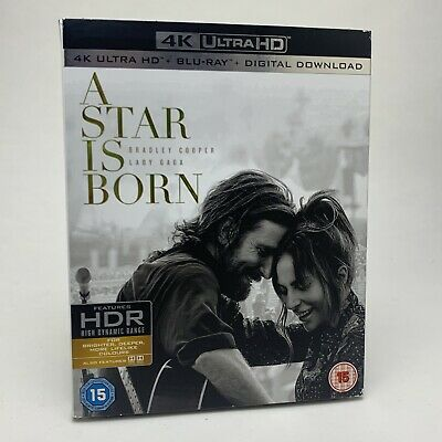 A Star is Born - 4K Ultra HD 2018 - Bradley Cooper, Lady Gaga - New & Sealed