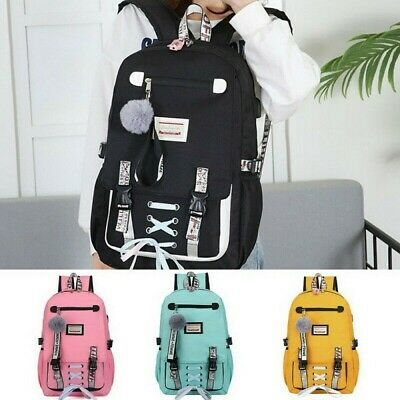 Large school bags for teenage girls usb with lock Anti theft backpack women US