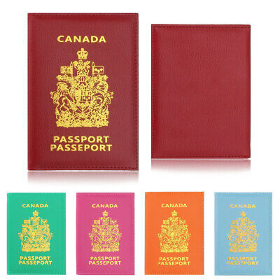 Canada Eco Leather Passport Holder Canadian Travel Cover Identification ID Case