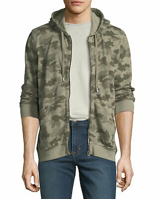 ATM Anthony Thomas Melillo Men's Sage Camouflage French Terry Zip Hoodie $295