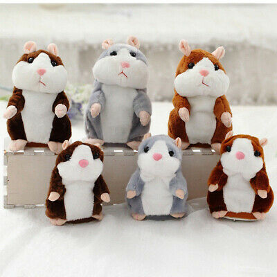 Cheeky Hamster Repeats What You Say Electronic Pet Talking Plush Toy Cute Gift Z