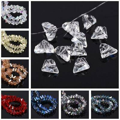 Triangle Diamond Faceted Cut Crystal Glass Loose Beads lot 4mm 6mm 8mm 10mm