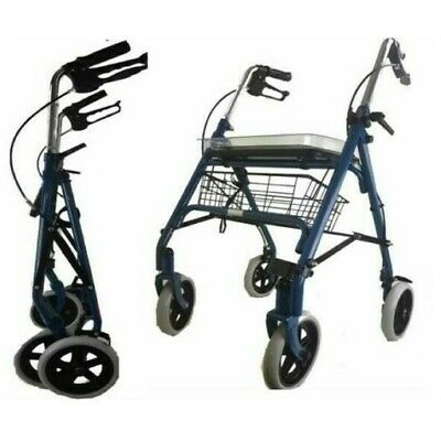 New Lightweight Rollator Walker Mobility Walking Zimmer Disability Aid
