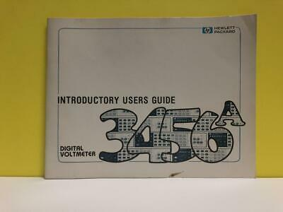 HP 03456-90002 Digital Voltmeter 3456A Introductory Users Guide