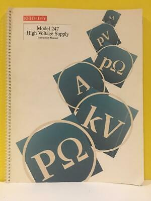Keithley 31834 Rev. F Model 247 High Voltage Supply Instruction Manual