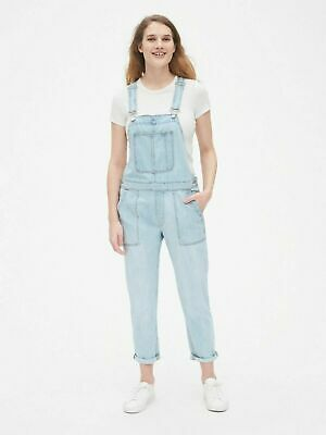 Gap NWT Light Blue Denim Relaxed Denim Overalls Medium $70
