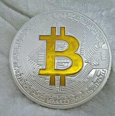 Bit Coin B Symbol Gold & Silver Chain Future Money Virtual Currency Software UK