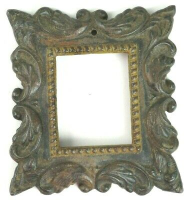 ANTIQUE Cast Iron Frame 2 x 2.5 opening for Ambrotype or Daguerreotype