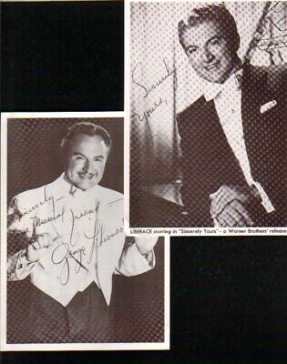 Liberace and George Liberace Autographed 1950's Photo Thru The Mail PPs Died 198