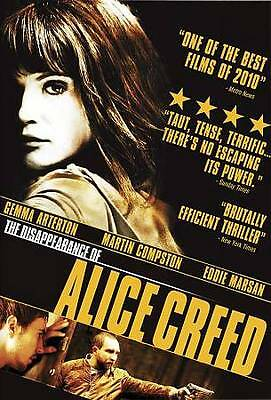 The Disappearance of Alice Creed (DVD, 2010, Canadian) VERY GOOD