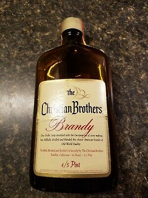 Vintage Christian Brothers Brandy Bottle 4/5 Pint
