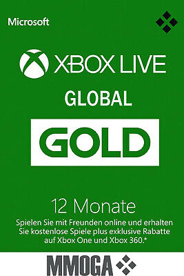 Xbox Live Gold Mitgliedschaft Card 12 Monate Xbox 360/One [GLOBAL Key]*