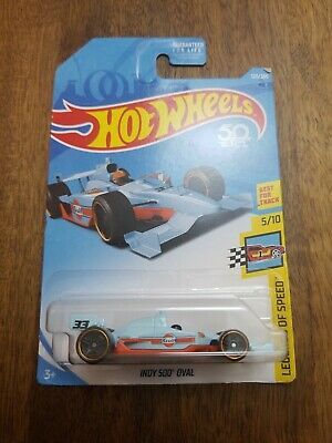 2018 HOT WHEELS 50th ANNIVERSARY HW LEGENDS OF SPEED 5/10 GULF INDY 500 OVAL