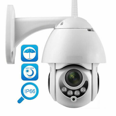 NEW 1080P 2MP Outdoor Full Color IP Camera PTZ Waterproof Wireless Wifi 2019