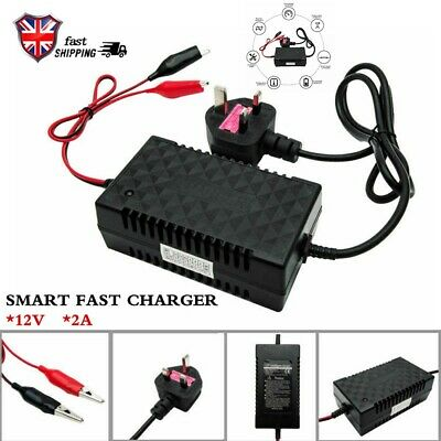 12V Intelligent Motorcycle Motorbike Battery Charger Automatic Smart Trickle Toy