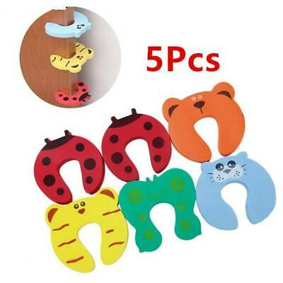 5Pcs Safety Cartoon Door Stoppers Clip Clamp Pinch Hand Security For Child Kids
