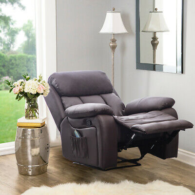 Electric Heated Massage Recliner Chair Leather Sofa Lounge Gaming Home Armchair