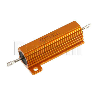 50W 10ohm Wirewound Power Resistor Aluminum Housing Chasis Mount
