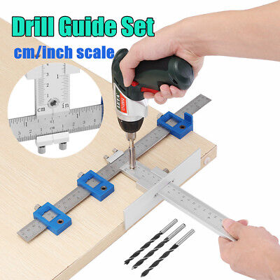Aluminum Woodworking Drawer cm/inch Position Cabinet Hardware Jig Drill