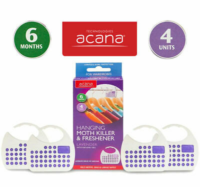 4 x Acana Hanging Moth Killer & Fresheners with Lavender Fragrance