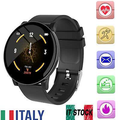 Smartwatch Android iOS Bluetooth Orologio Intelligente Uomo Donna Impermeabile